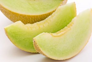 A mature fruit: honeydew melon.