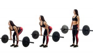 Barbell deadlift strengthens the entire back chain: thigh back, butt, back straightener and lower back muscles.