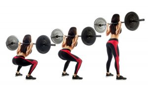 Crunchy prospects: barbell squats provide strong legs and a round butt.