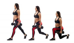 No reason to fail! Lunges burn calories step by step.