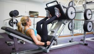 You prefer to work on equipment than with free weights? Then the leg press is her best friend.
