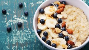 Oatmeal is a super healthy breakfast Nuts, fruits, coconut flakes - do not underestimate the calorie content of Oatmeal toppings.